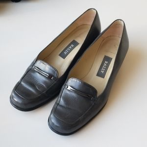 Bally supple leather shoes heel loafer flat
